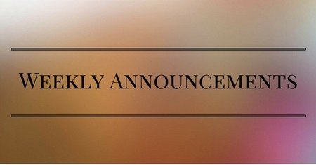 weekly announcements trinity memorial united church